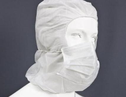 Haube mit maske