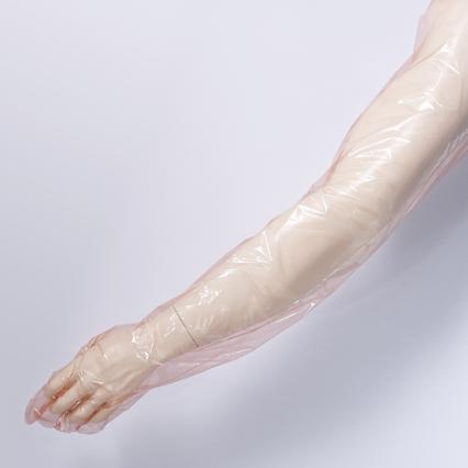 Lange kunststoffhandschuhe für tierärtze